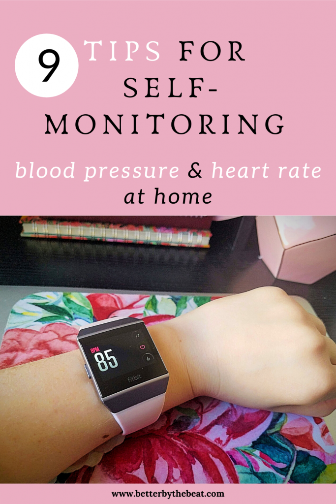 9 tips for self-monitoring blood pressure and heart rate at home