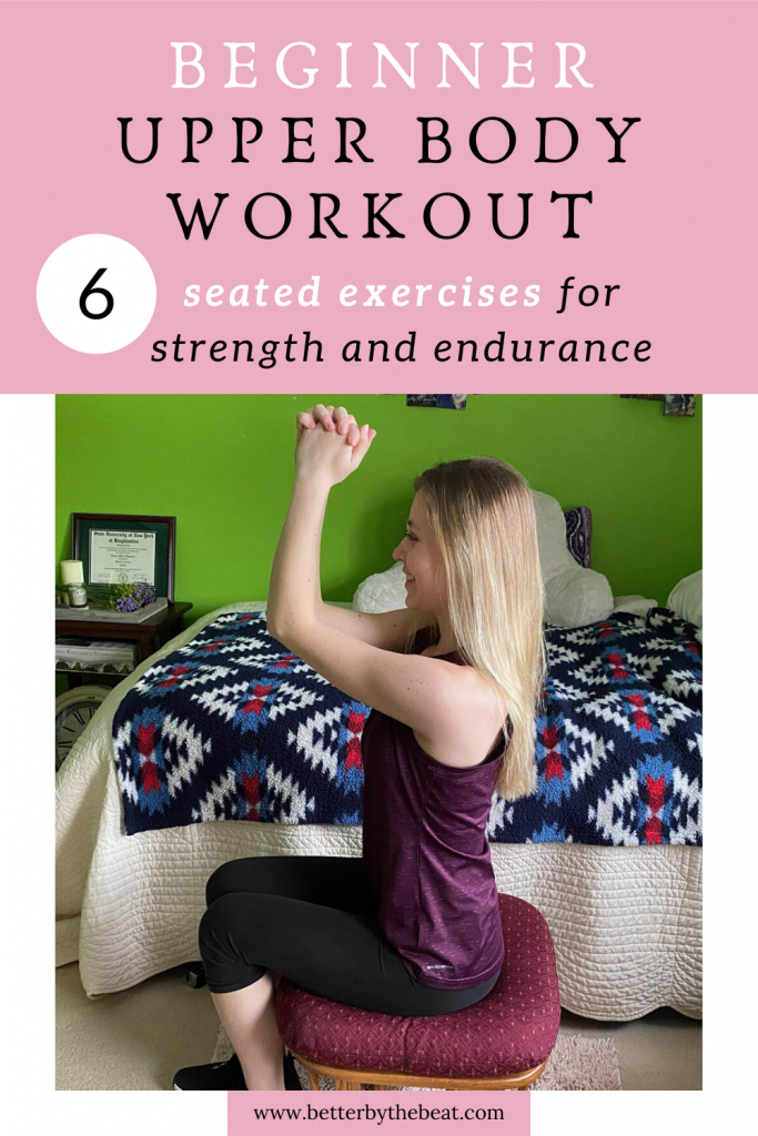 Beginner seated upper body workout