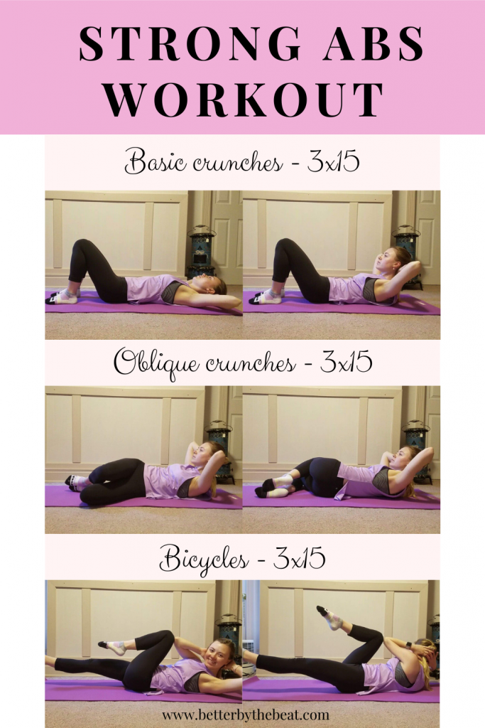 Exercises in a strong abs workout