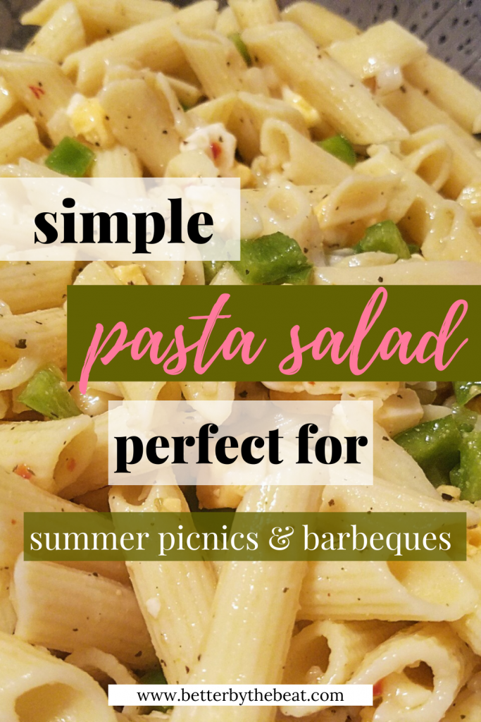 Simple pasta salad perfect for summer